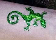 Lizard Glitter Tattoo | Partyco-op
