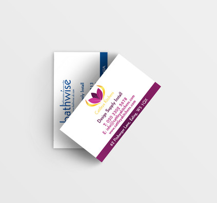 Bathwise and Catleya Kitchen Business Cards