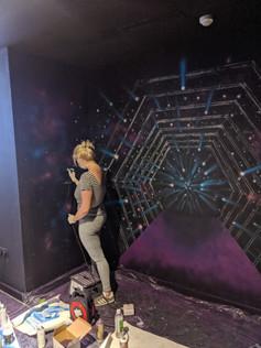 LUXX London Nightclub Mural
