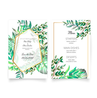 Wedding Save the date and Menu