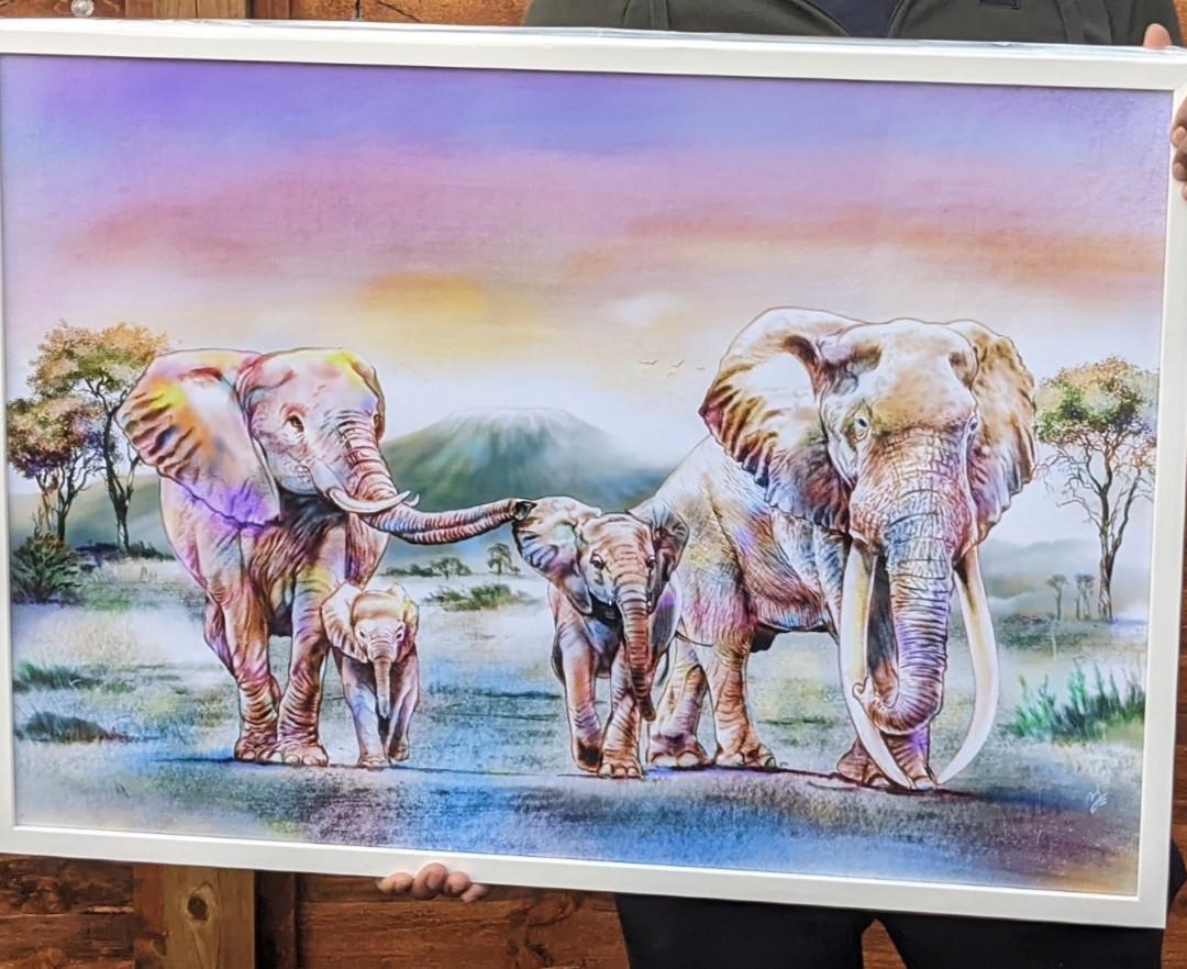 Digital Painting Framed