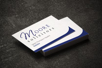 Moore Solicitors Business Cards
