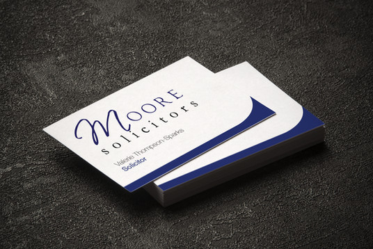 Moore Solicitors Business Card