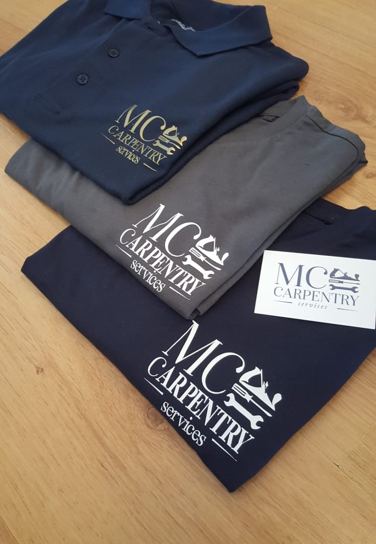 MC Carpentry branding