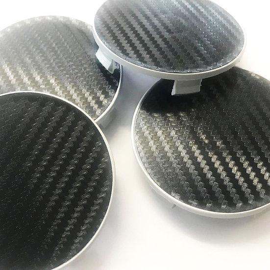 Fibre Carbon BMW Fitment Centre Caps 65mm to 68mm