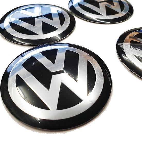 65mm VW Volkswagen T5 T6 Centre Cap Sticker Badges to fit BMW Alloy Wheels