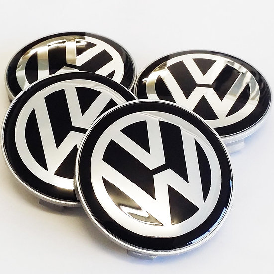 VW Volkswagen T5 T6 Centre Caps to fit BMW Alloy Wheels 65mm to 68mm