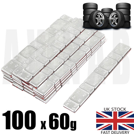 Self Adhesive Alloy Steel Wheel Weights 100 X 60 5G/10G, Balancing 60gram Stick