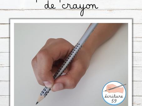 6 étapes pour la tenue de crayon