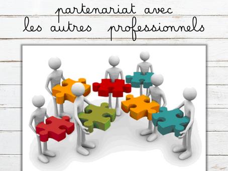 La rééducatrice en écriture en partenariat avec les autres professionnels