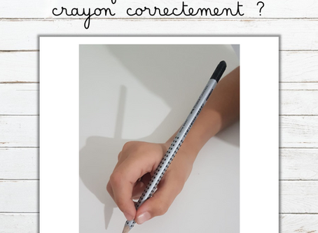 Mon enfant tient-il son crayon correctement ?