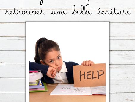 Aidez votre enfant à retrouver une belle écriture