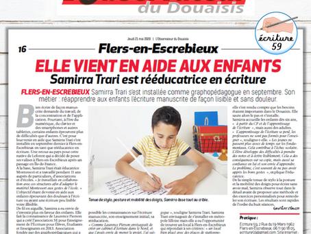 """Un article dans """"L'Observateur du Douaisis"""""""