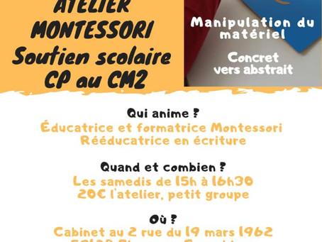 Ateliers Montessori  / soutien scolaire 6-12ans