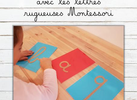L'entrée dans l'écriture avec les lettres rugueuses Montessori