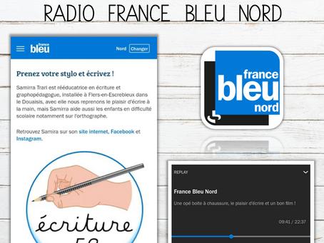 Interview sur les ondes de radio France Bleu Nord