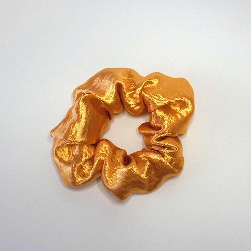 Handmade XL Soft Satin Gold Scrunchie