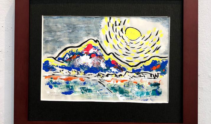 「由布岳と月夜」