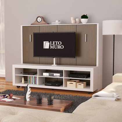 Alexa Full Wall Bed with Tv Stand