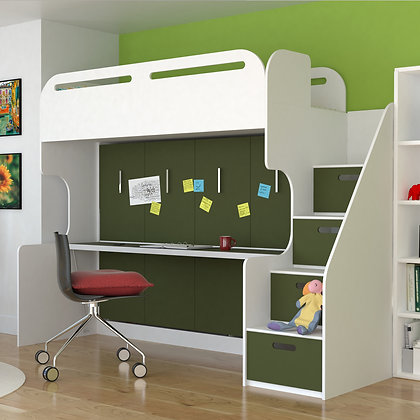 Abner Bunk bed with wall bed
