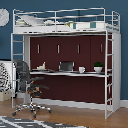 Abel Bunk Bed with Wall Bed and Desk