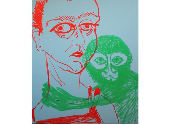 Retrato com macaco, Engrácia Cardoso