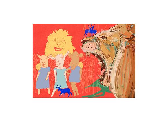 """Fábula """"O leão e os outros animais"""", Susana Cereja"""