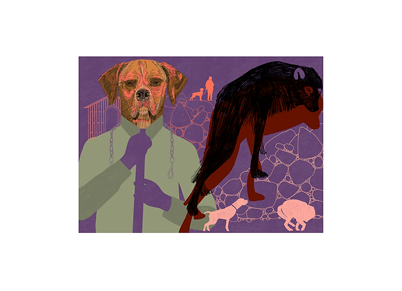 """Fábula """"O cão e o lobo"""", Susana Cereja"""