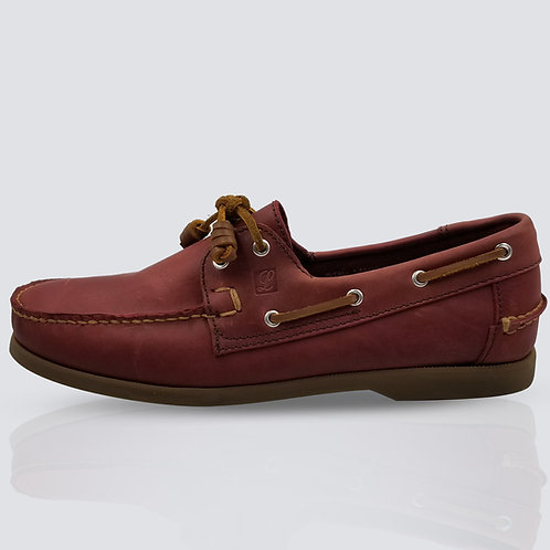 Legend Men's Topsider Red Crazy Horse / Brownsole