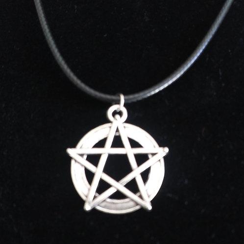 Lrg. titanium Pentagram pendant