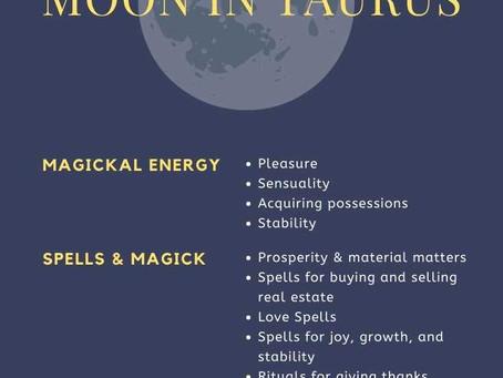 New Moon in Romantic Taurus