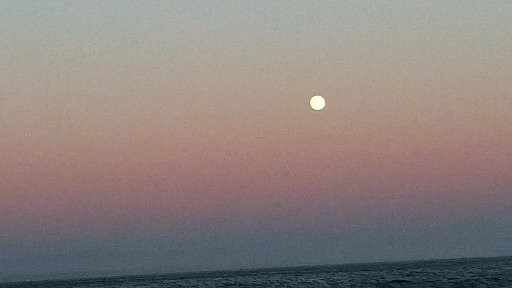 Sunset Full moon