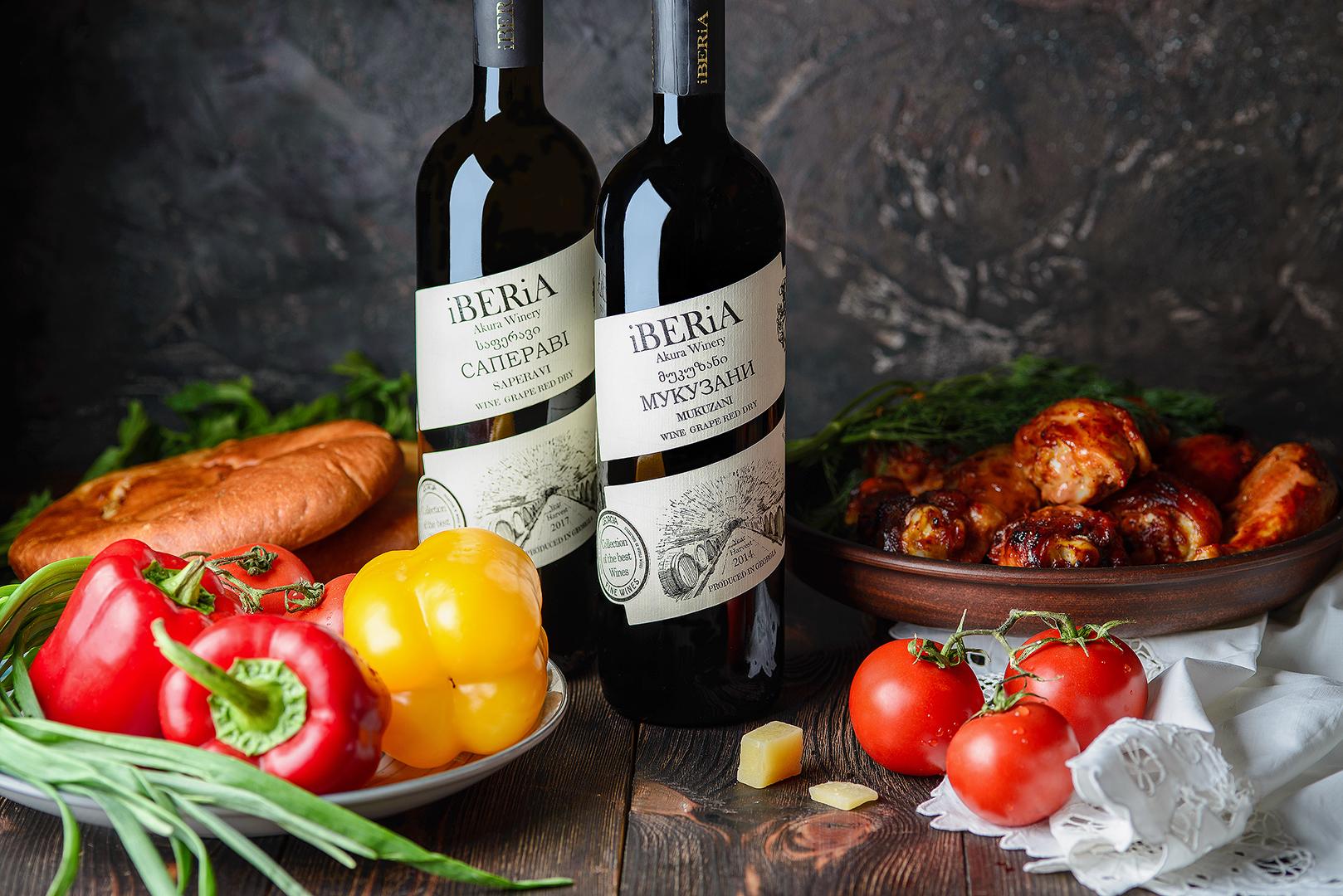 Вино Иберия Саперави и Мукузани