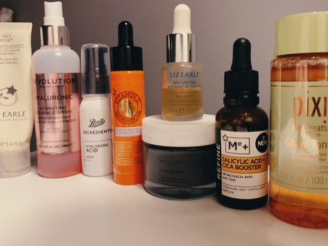 My skincare staples for saying adios to acne!