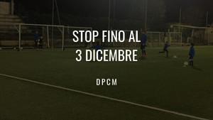 Stop fino al 3 Dicembre!
