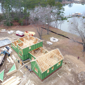 more framing progress and the zip panels are beginning to get installed