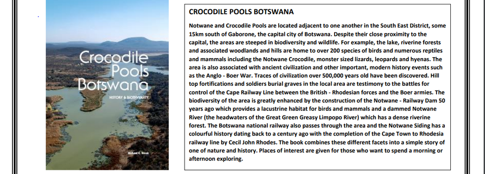 Crocodile Pools Botswana History and Bio