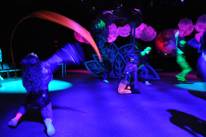 Fairy Rave Dance Number with Blacklight Effect