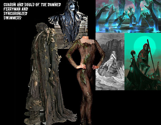 Charon and the Souls of the Damned Concept Board
