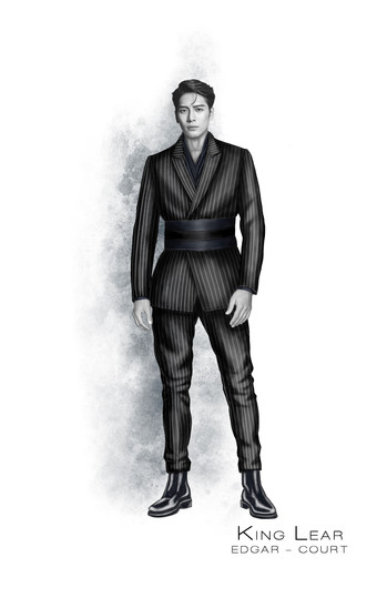 Costume Concept for Edgar from Shakespeare's King Lear