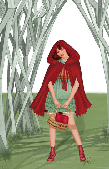 """Little Red Riding Hood Concept for Sondheim's """"Into the Woods"""""""