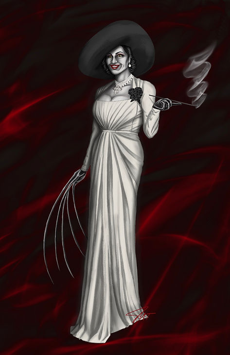 Lady Dimitrescu from the video game Resident Evil Village
