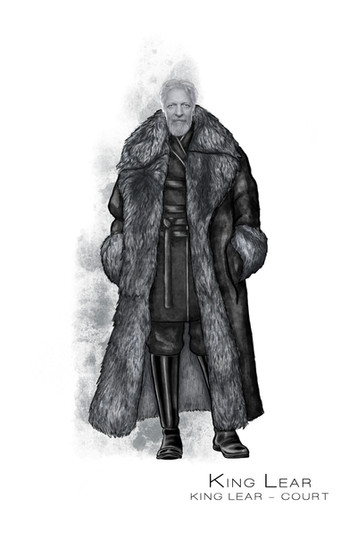 Costume Concept For Shakespeare's King Lear in Act I Scene 1