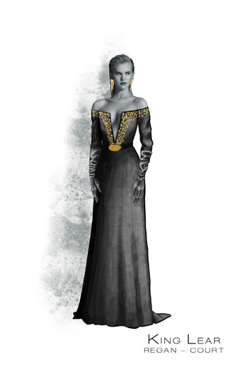 Costume Concept For Regan from Shakespeare's King Lear in Act I Scene 1