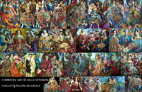 Olga Suvorova Commedia Art Concept Board