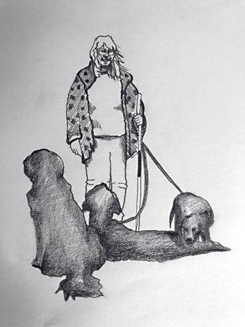 Elian Hattinga van het Sant en haar honden