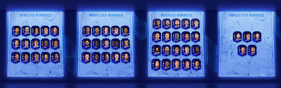 FUT19 Team of the Year Nominees TOTY 19