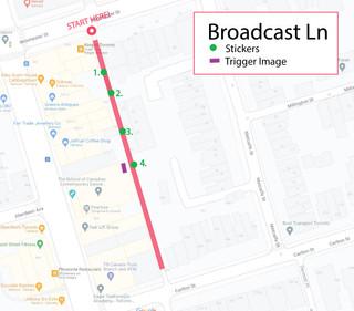 Broadcast Lane Map