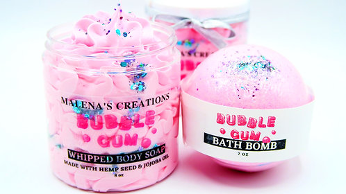 Bubble Gum Duo (Bath Bomb and Whipped Soap)