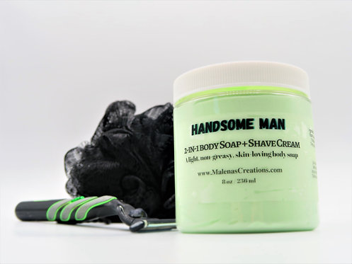 2-in-1 Body Soap + Shaving Cream (Handsome Man)